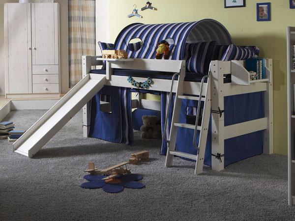 rutschenbett fabian halbhochbett mit rutsche. Black Bedroom Furniture Sets. Home Design Ideas