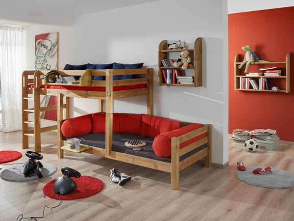 stockbett versetzt kevin stabiles etagenbett in kiefer vollmassiv. Black Bedroom Furniture Sets. Home Design Ideas