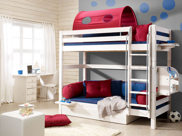 stockbett tim stabiles etagenbett in kiefer vollmassiv. Black Bedroom Furniture Sets. Home Design Ideas